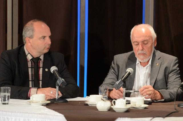 Les maires de Roberval et Saint-Félicien, Guy Larouche... (Archives Le Progrès-Dimanche)