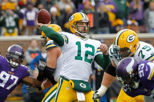 Aaron Rodgers (ici contre les Vikings la saison... (AP, Ann Heisenfelt)
