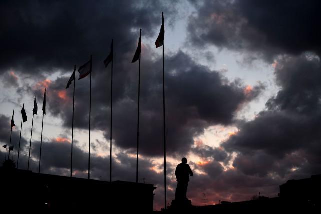 Le centre-villede Simféropol, l'une des villes touchées.... (PHOTO ARCHIVES AFP)
