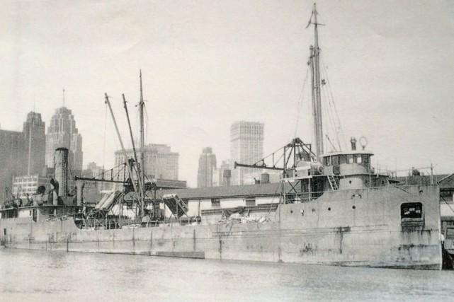 Le navire canadien Oakton a été torpillé en... (Photo fournie par Samuel Côté)