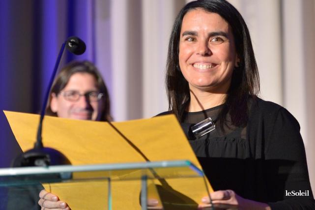La journaliste Mélanie Noël... (Le Soleil, Yan Doublet)