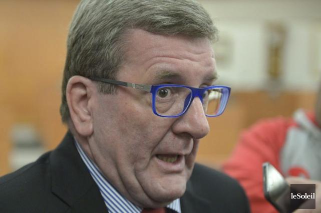 Le maire de Québec, Régis Labeaume, lors de... (PHOTO YAN DOUBLET, LE SOLEIL)