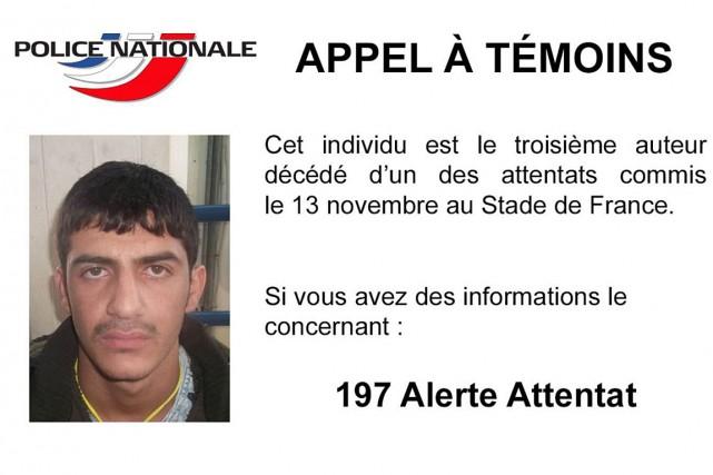 La police française a diffusé dimanche un appel... (PHOTO APPEL À TÉMOIN DE LA POLICE FRANÇAISE)