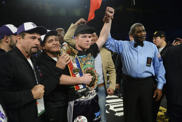 Canelo Alvarez a mérité la ceinture vacante WBC... (PHOTO JOE CAMPOREALE, USA TODAY)