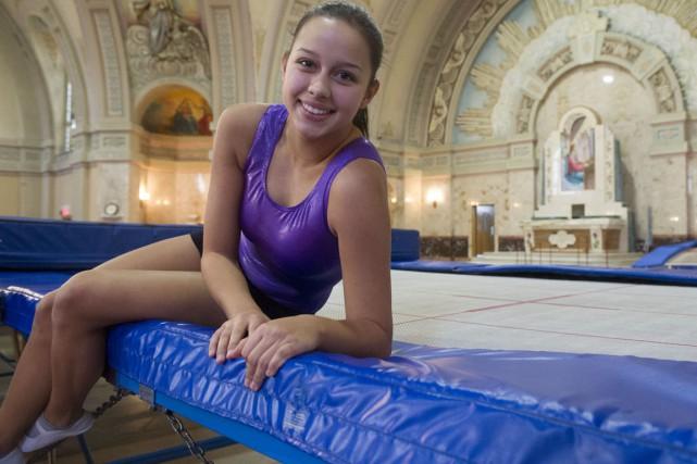 Sara-Jade Berthiaume deviendra la deuxième athlète du club... (Stéphane Lessard)
