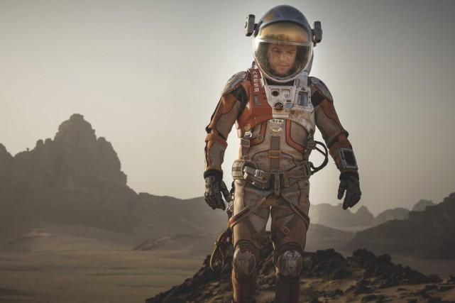 Matt Damon dans une scène deThe Martian.... (Courtoisie)
