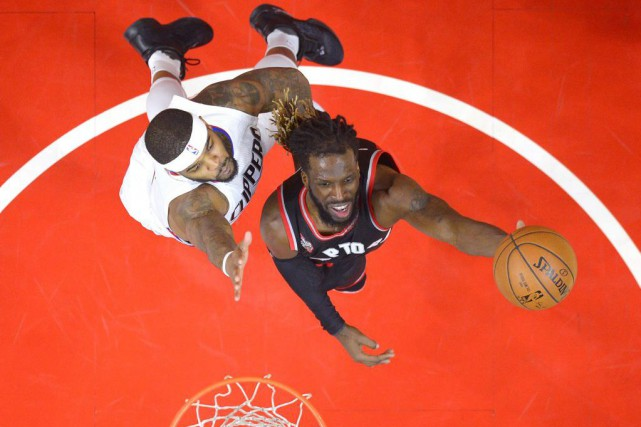 DeMar DeRozan a inscrit 21 points, DeMarre Carroll a aussi fourni 21 points,... (Photo AP)