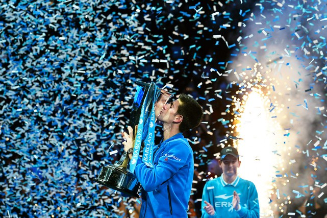 Le Serbe Novak Djokovic a remporté le Masters... (Agence France-Presse)