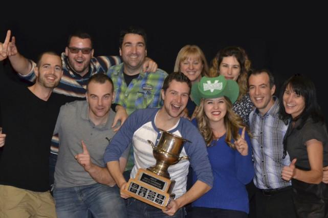 L'équipe Desjardins entreprises - Estrie a remporté les... (Fournie)