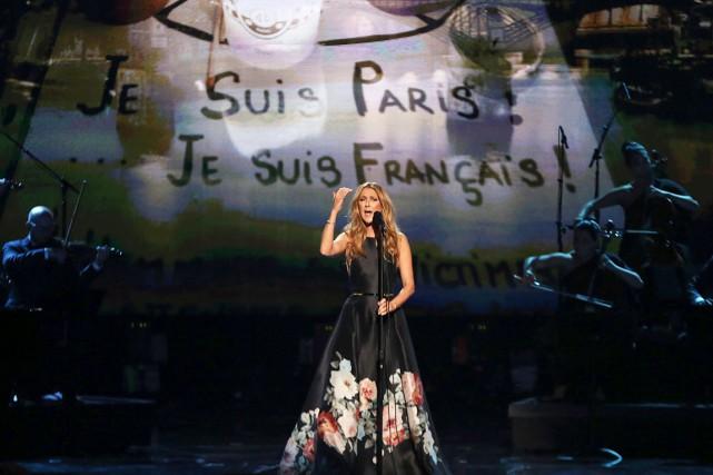 Céline Dion a interprété Hymne à l'amour d'Édith... (AP,  Matt Sayles)