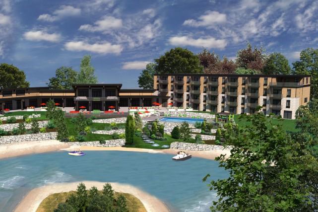 L'hôtel La Cache du Domaine sera construit sur... (Fournie)