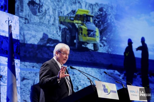 Luc Blanchette, ministre délégué aux Mines au ministère... (PHOTO ALAIN ROBERGE, LA PRESSE)