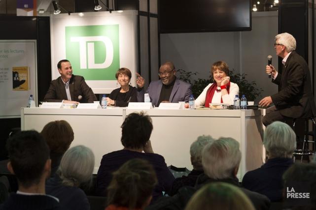 Les politiciens Jean-François-Roberge, Françoise David, Maka Kotto et... (PHOTO ROBERT SKINNER, LA PRESSE)