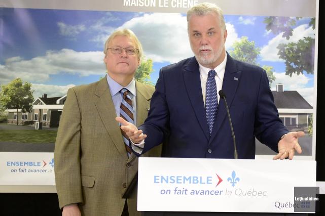 Gaétan Barrette,Ministre de la Santé et des Services... ((Photo Le Quotidien, Jeannot Lévesque))