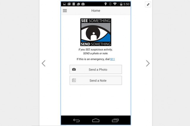 L'application gratuite See something, send something qui permet... (Image capture d'écran)
