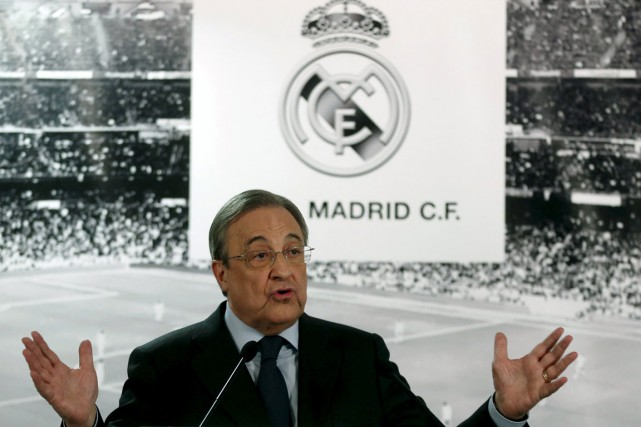 Le président du Real Madrid, Florentino Perez.... (Photo Juan Medina, Reuters)