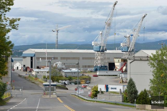 Le chantier maritime Davie... (Photothèque Le Soleil, Pascal Ratthé)
