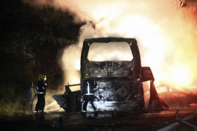 L'accident s'est produit dimanche en fin de journée,... (PHOTO AFP)