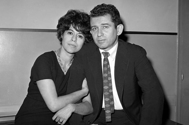 Adele Morales Mailer et son ex-mari en décembre... (PHOTO AP)