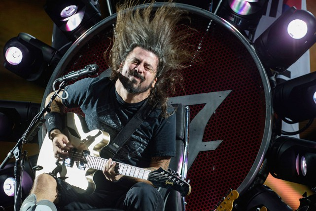 Le leader des Foo Fighters, Dave Grohl, a... (AFP, ED JONES)