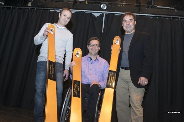 Les skieurs acrobatiques Lloyd Langlois et Nicolas Fontaine... (Imacom, Julien Chamberland)