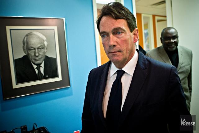 Le chef du Parti québécois, Pierre Karl Péladeau... (PHOTO PATRICK SANFAÇON, LA PRESSE)