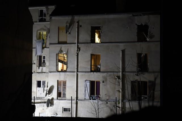 L'immeuble de Saint-Denis oùJawad Bendaouda été arrêté la... (Archives AFP)