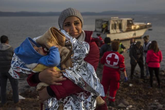 Si le plan d'accueil du Canada des réfugiés syriens se limite aux femmes, aux... (Photo AP)