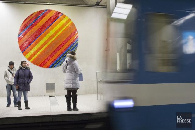 La station de métro Peel, à Montréal, est... (PHOTO OLIVIER JEAN, LA PRESSE)