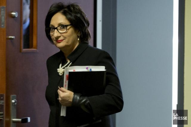 La présidente de la Commission, la juge France... (Photothèque La Presse)