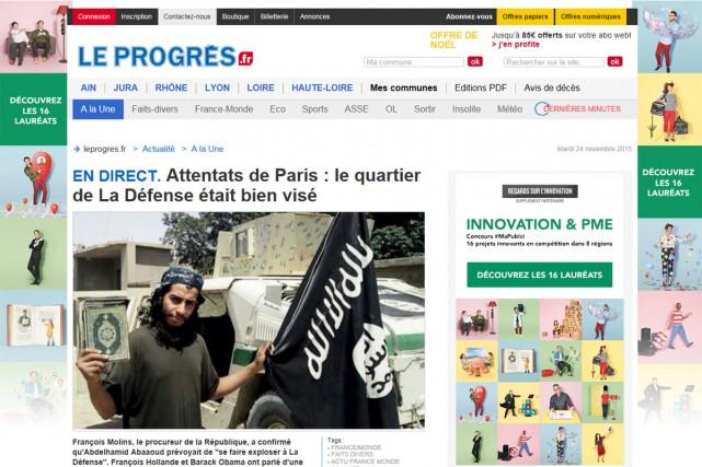 Le quotidien régional Le Progrès sort mercredi sous une nouvelle...