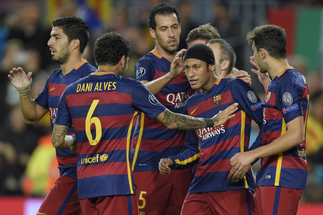 Avec 10 points, le FC Barcelone ne peut... (Photo Lluis Gene, archives AFP)