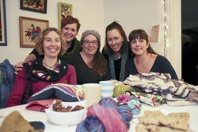 Clothilde Buhrel, Julie Prud'Homme, Louise Beauchemin, Kim Lam... (photos Julie Catudal)