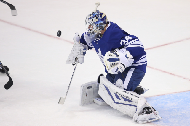 Le gardien James Reimer a amorcé 11 des... (Photo Tom Szczerbowski, USA Today)