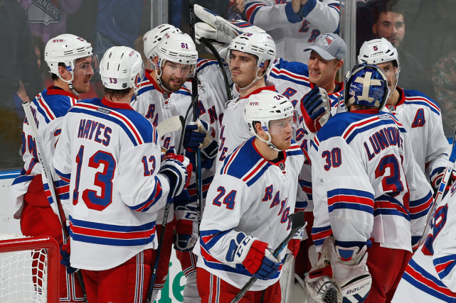 Les Rangers de New York ont remporté 13 de... (Photo Joel Auerbach, AP)