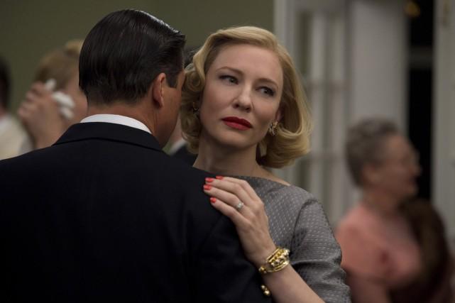 Kyle Chandler et Cate Blanchett dans une scène... (PHOTO FOURNIE PAR THE WEINSTEIN COMPANY)
