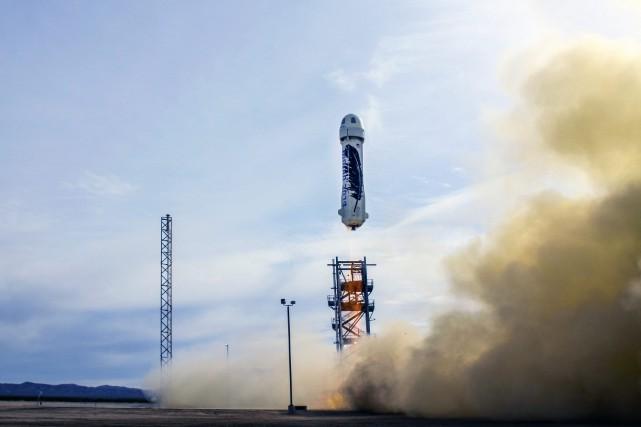 New Sheparda atteint 101 kilomètres d'altitude avant de... (PHOTO FOURNIE PAR BLUE ORIGIN)