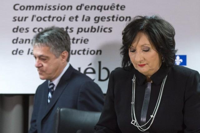 La juge France Charbonneau a dévoilé son rapport... (Photo Paul Chiasson, La Presse Canadienne)