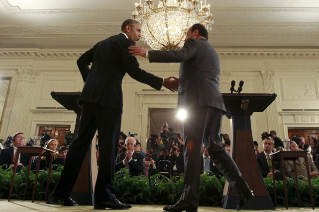 «Nous sommes tous Français», a lancé Barack Obama... (PHOTO AFP)