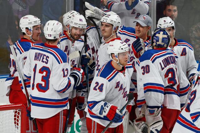Les Rangers de New York ont remporté13 de... (Joel Auerbach, AP)
