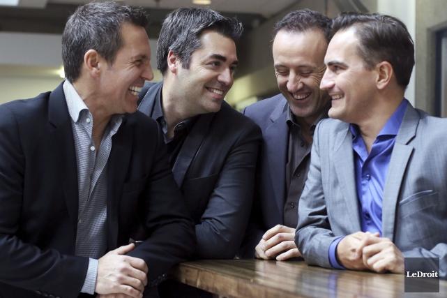 Benoit Miron, Dany Laliberté, René Lajoie et Patrick... (Patrick Woodbury, LeDroit)