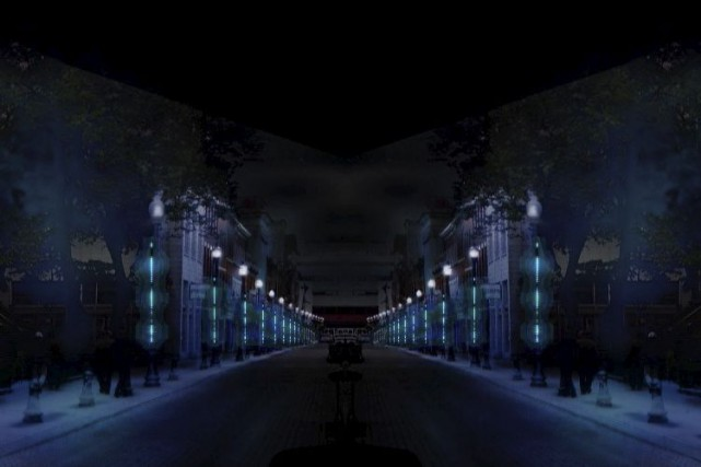 Parcours lumineux,sur la rue Saint-Joseph... (Tirée d'une video de la Ville de Quebec)