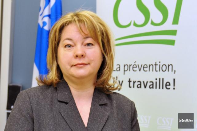 La communicatrice régionale de la CSST, Swan Thibeault,... (Archives Le Quotidien, Jeannot Lévesque)