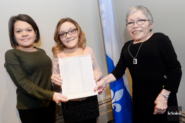 Sandra Houle, Laurie Patry Pelletier et Johanne Racine... (Le Soleil, Jean-Marie Villeneuve)