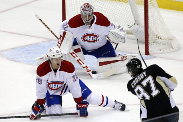 Sidney Crosby, des Penguins de Pittsburgh, n'était pas... (PHOTO AP)