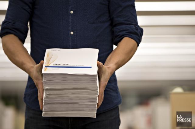 Certaines des recommandations qui se trouvent dans le rapport de la commission... (Archives La Presse)