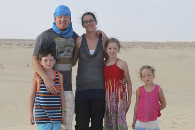 La famille Rancourt Giguère est installée à Tunis,... (Photo fournie)