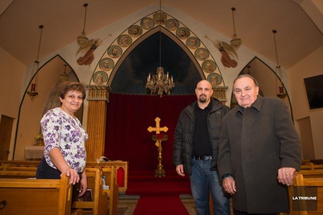 Fanar Yousuf, Calile Haddad et Allen Haddad, membres... (IMACOM, JESSICA GARNEAU)