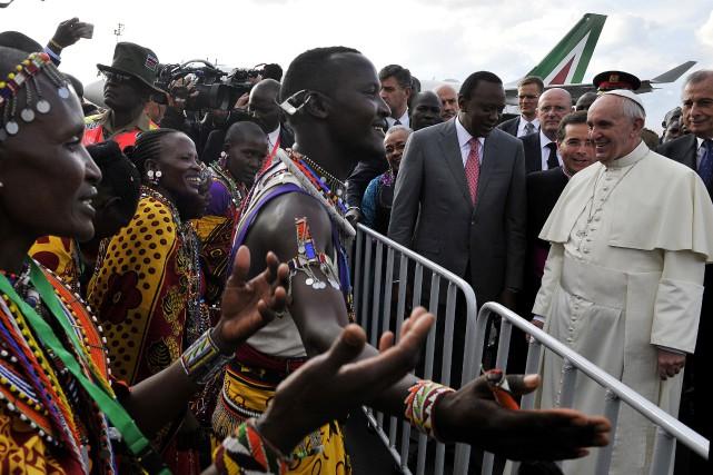Le pape François prononcera 19discours à Nairobi, Kampala... (PHOTO SIMON MAINA, AGENCE FRANCE-PRESSE)