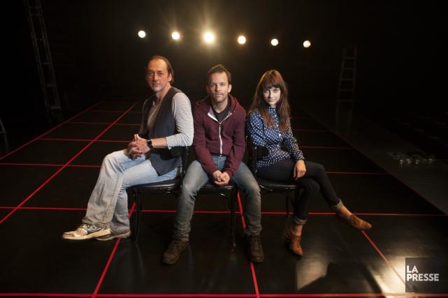 Mise en scène par Marc Beaupré (au centre),... (Archives, La Presse)